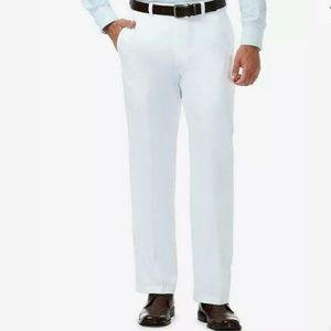 Haggar Cool 18 Pro Golf White Pants 40/30